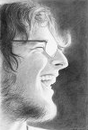 a pencil-drawn portrait
